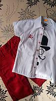Летний нарядный комплект-тройка  для мальчика 5 лет. Турция!!Детская летняя одежда!