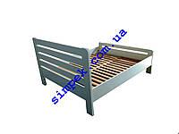 Двуспальная деревянная кровать (ольха / ясень)