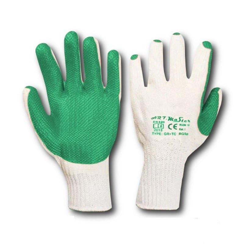 Перчатки рабочие стекольщика зеленые (Польша)