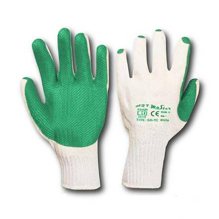 Перчатки рабочие стекольщика зеленые (Польша), фото 2