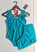 Акция ! Пляжный комплект купальник и  шорты.