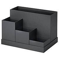 """ИКЕА """"ТЬЕНА"""" Подставка для канцелярских принадлежностей, черная, 18x17 см."""