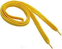 Шнурки широкие 20мм/120см, Желтый, обувные шнурки