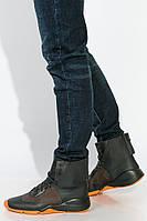 Хайтопы мужские, яркие 373K008-1 (Черно-оранжевый)
