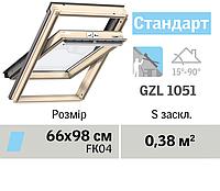 Мансардне вікно VELUX Стандарт (верхня ручка, 66*98 см), фото 1