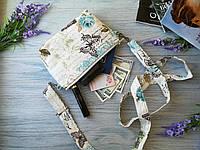 Детская сумочка бирюзовые бабочки