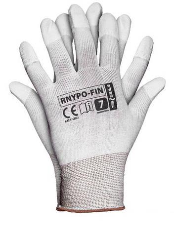 """Перчатки рабочие стрейчевая облитые пальцы """"RNYPO-FIN"""" (Reis), фото 2"""