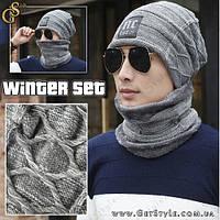 """Зимний набор Шапка и шарф - """"Winter Set"""" - 2 в 1"""