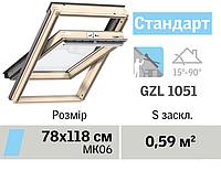Мансардне вікно VELUX Стандарт (верхня ручка, 78*118 см), фото 1