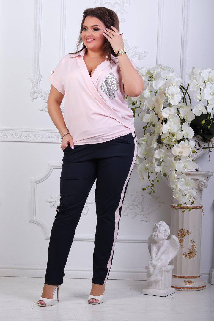 cda5e625bafb Женский костюм батал - Модный Дом - интернет-магазин женской и мужской  одежды оптом и