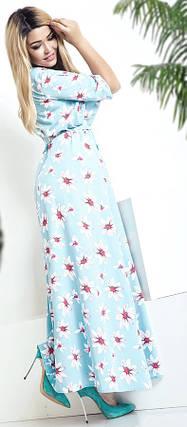Голубое платье в цветок, фото 2