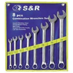Набор ключей гаечных комбинированных S&R 6шт (10-17мм)