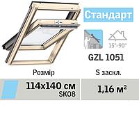 Мансардне вікно VELUX Стандарт (верхня ручка, 114*140 см), фото 1
