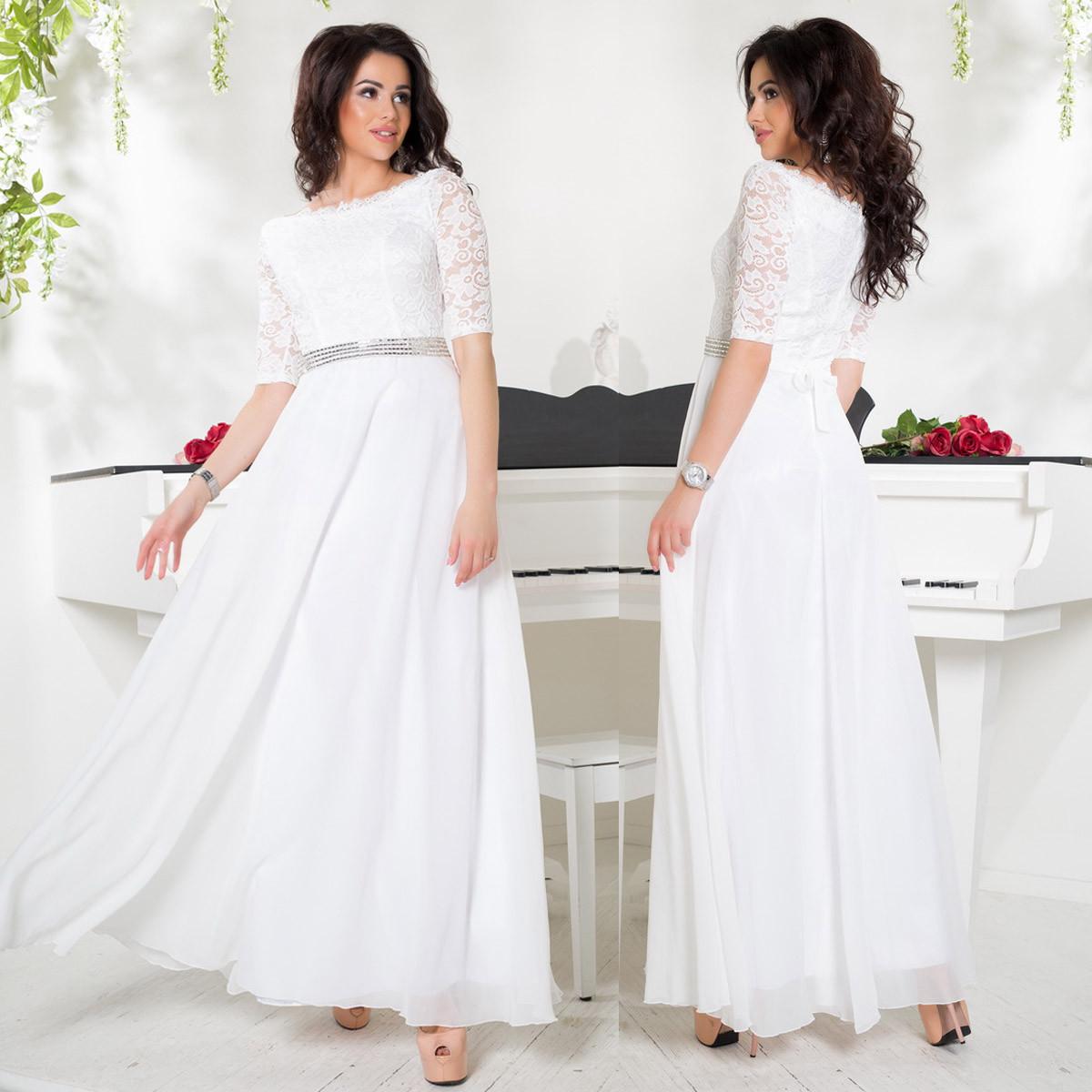 11a8f381af8 Длинное белое платье вечернее