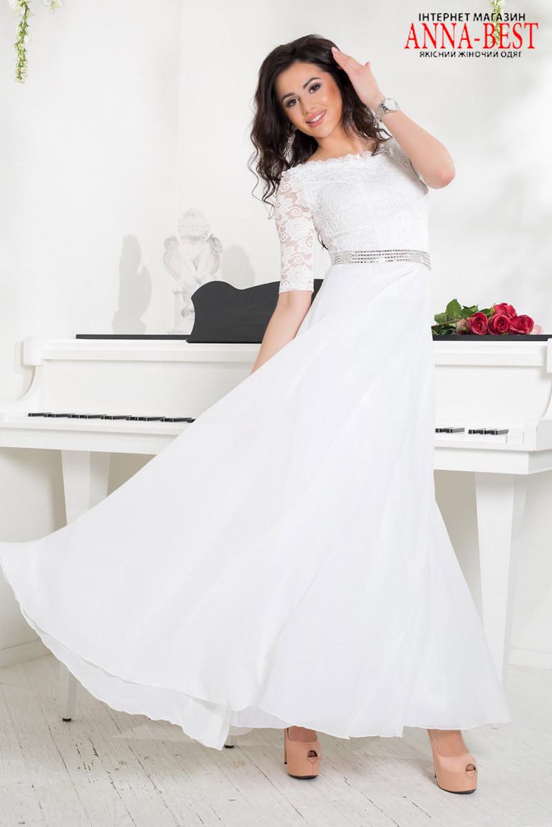 3ae6f762ebb Длинное белое платье вечернее