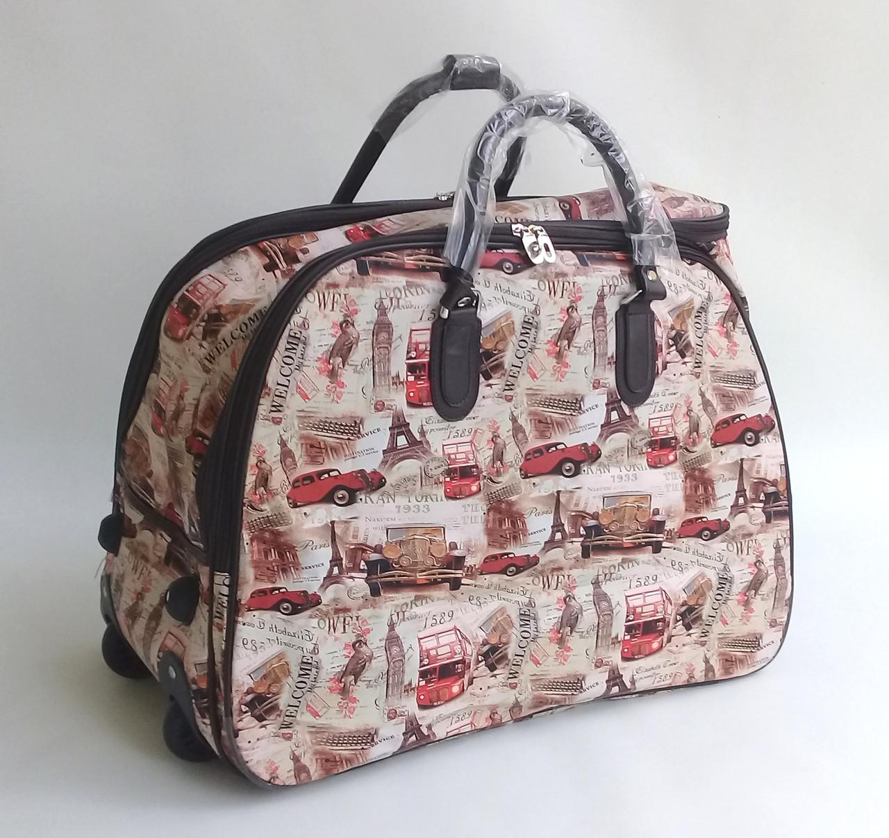 f320ce0b7325 Дорожная сумка на колесах из кожзама  среднего размера - Чемоданчик в  Закарпатской области
