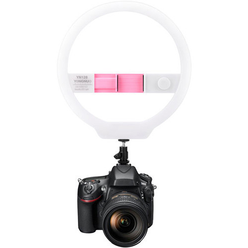 Кольцевой свет Yongnuo LED with Variable Color Temperature Output 3200-5000K (Pink) (YN128 3200-5500K PINK)