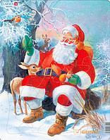 Пазл 'Дед Мороз в лесу' (123794)