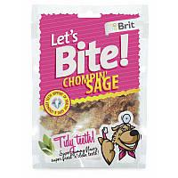 Brit Лакомства для здоровья зубов Let's bite Chompin Sage с шалфеем (150 г)
