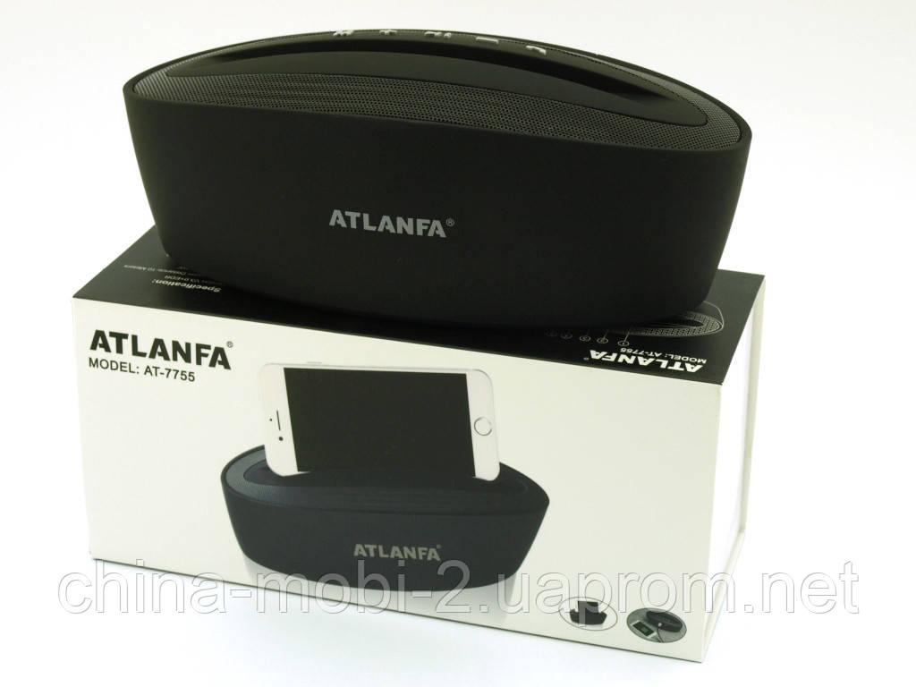 Atlanfa AT-7755, портативна колонка-підставка 5W з Bluetooth FM MP3, чорна