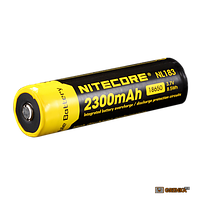Аккумулятор литиевый Li-Ion 18650 Nitecore NL183 3.7V (2300mAh), защищенный (124089)