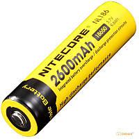 Аккумулятор литиевый Li-Ion 18650 Nitecore NL186 3.7V (2600mAh), защищенный (124095)