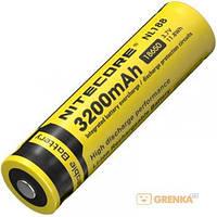 Аккумулятор литиевый Li-Ion 18650 Nitecore NL188 3.7V (3200mAh), защищенный (124096)
