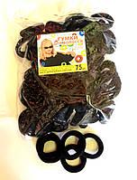 Резинка для волос - Калуш нейлон (75 шт), черная