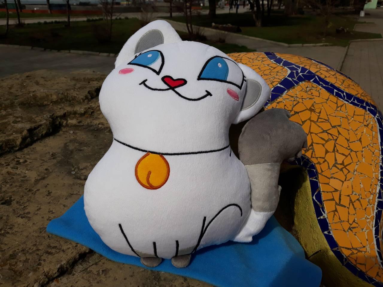 Мягкая игрушка Кошка Лола Lola Viber, стикер Вайбер ручная работа