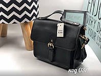 Сумочка портфель из эко-кожи черного цвета