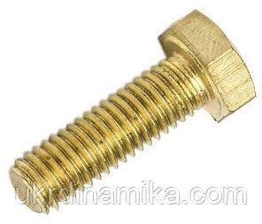 Болт латунный М4 DIN 933, фото 2