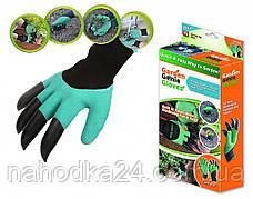 СУПЕР ЦЕНА! Садовые перчатки с КОГТЯМИ для сада. Garden Genie Gloves, фото 2
