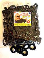 Резинка для волос - Калуш нейлон (120 шт), черная маленькая
