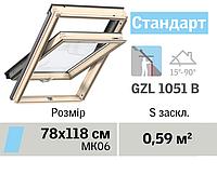 Мансардне вікно VELUX Стандарт (нижня ручка, 78*118 см), фото 1