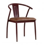 Мягкий стул металлический  Энди, коричневый (стиль ЛОФТ)