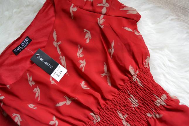Новое платье в принт птицы Select, фото 2