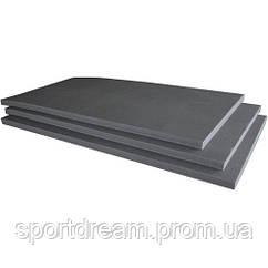 Борцовский (спортивный) мат для борьбы, дзюдо 1м х 2м толщина 3см (серый)