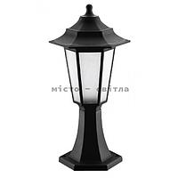 Светильник садово-парковый Begonya-1 IP44 черный Е27 столб