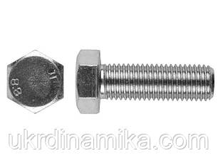 Болт М16*55 DIN 933 5.8 оцинкованный, полная резьба, фото 2