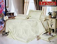 Комплект постельного белья шелковый жаккард La scala JP-10