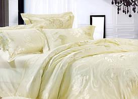 Комплект постельного белья шелковый жаккард La scala JT-10