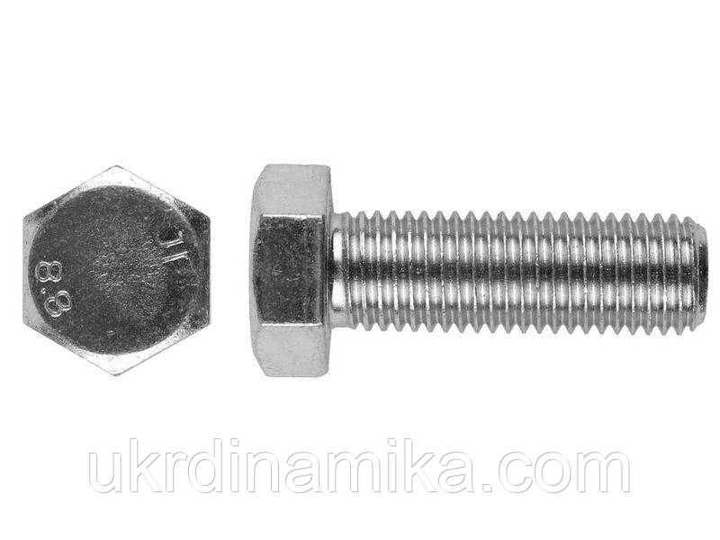 Болт М20*80 DIN 933 5.8 оцинкованный, полная резьба