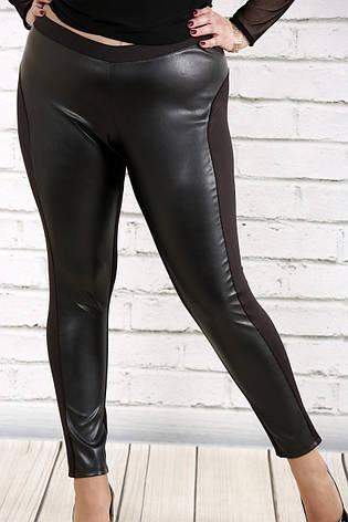 1f6b036244dca Черные леггинсы больших размеров с эко-кожей 038: 575 грн. Купить в ...