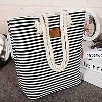 Коттоновая  пляжная сумка , 2 вида