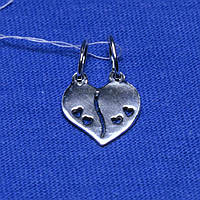 Серебряный кулон Сердце на двоих 3090, фото 1