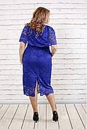 Женское нарядное платье с гипюром ниже колена 0778 / размер 42-74 , фото 4