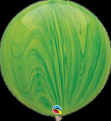 Шар 30/75см Супер Агат Green зеленый Qualatex