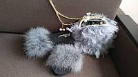 Хит сезона! Шикарная сумочка из натурального пера страуса, фото 1