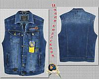 Жилетка мужская джинсовая Gastino размер S синего цвета