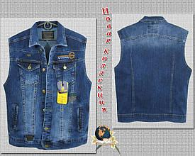 Жилетка мужская джинсовая Gastino светло-синего цвета